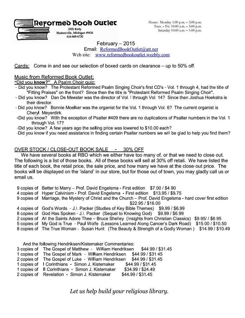 RBO Newsletter Feb 2015 Page 1
