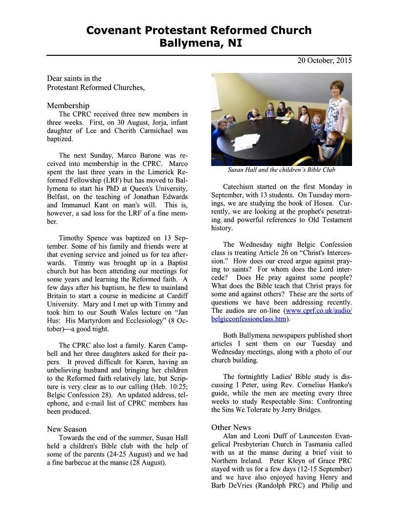 CPRCNI Newsletter Oct 2015 Page 1