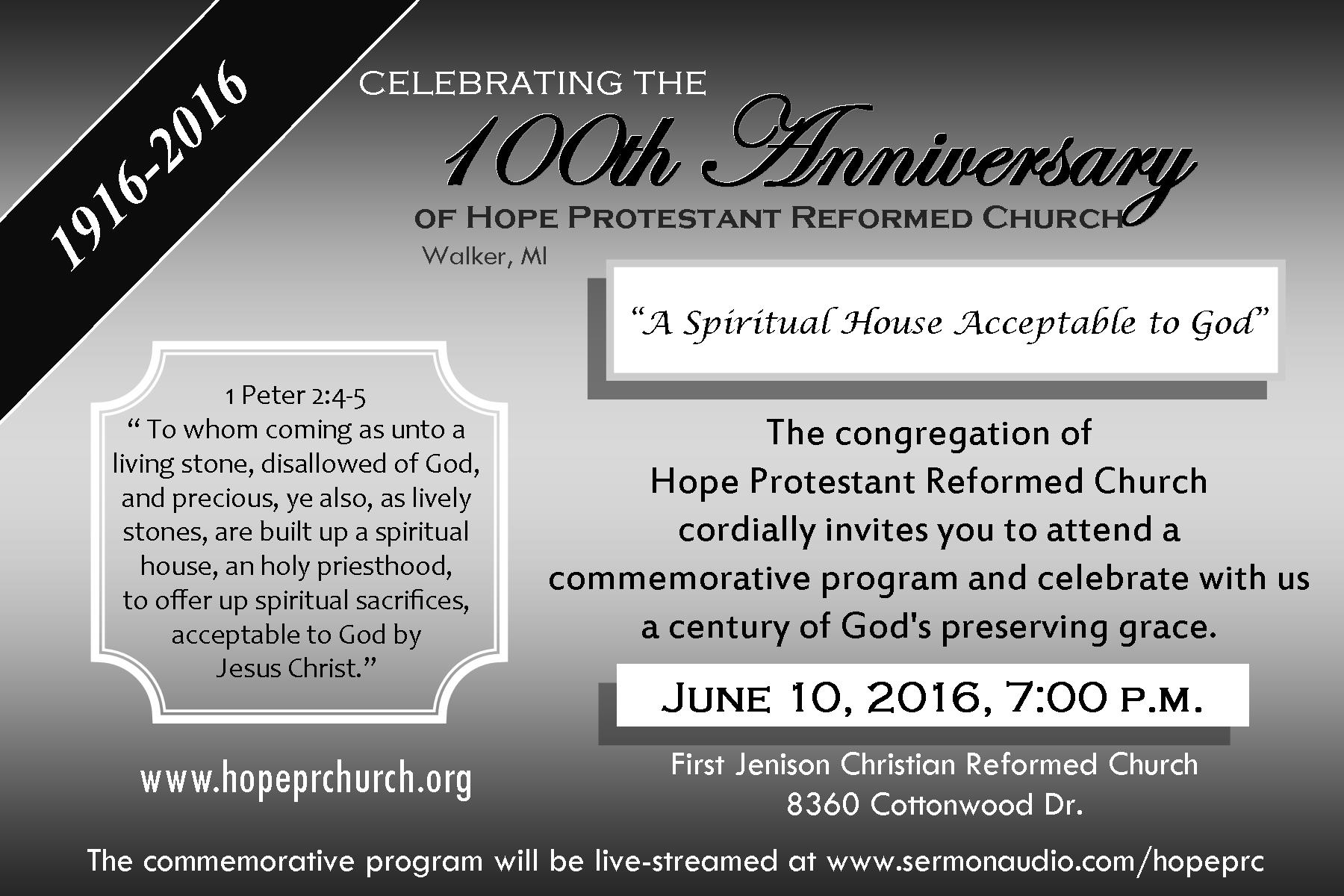 HopePRC 100th Anniv advert 2016