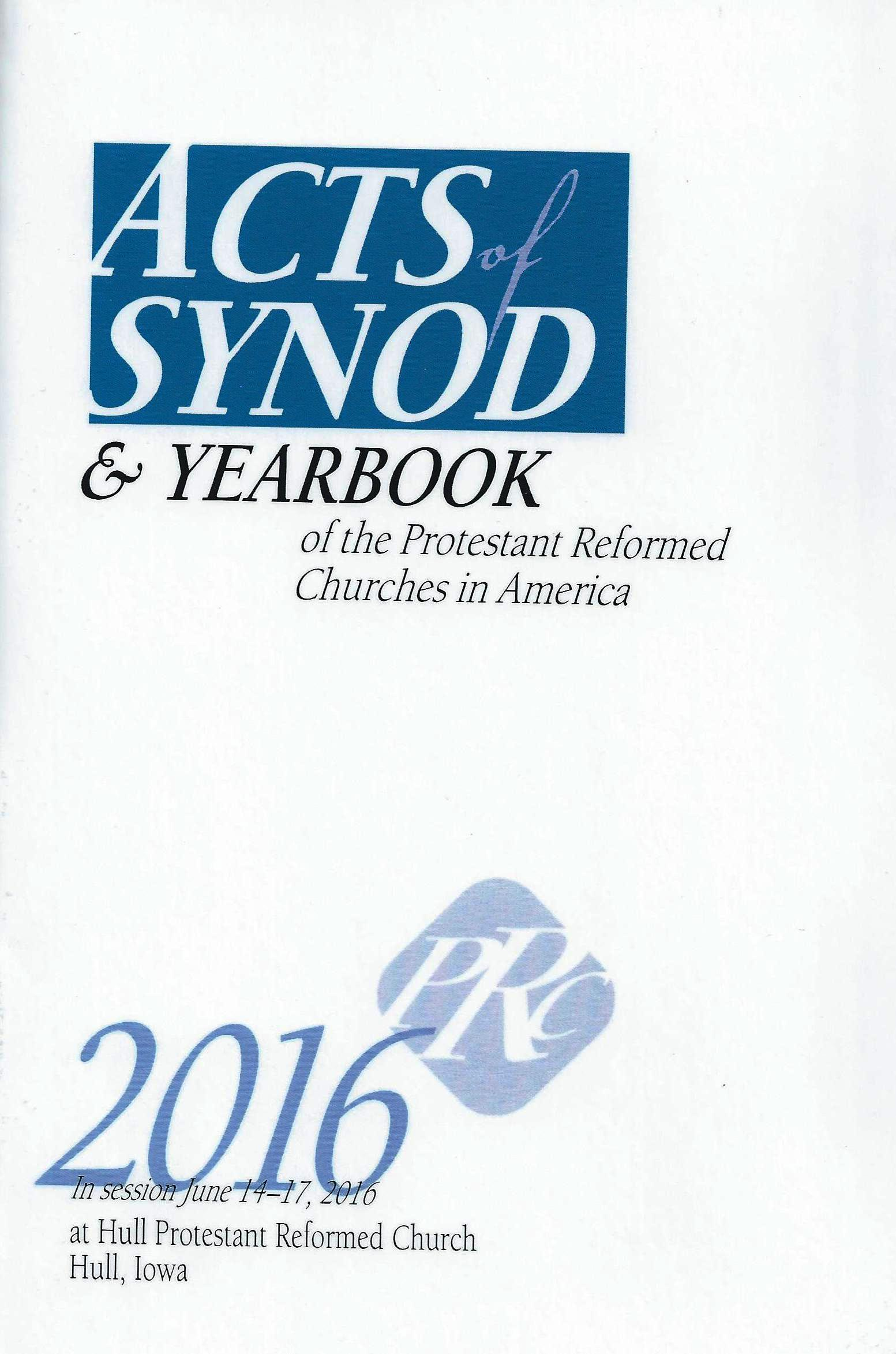 Acts Synod 2016 cover