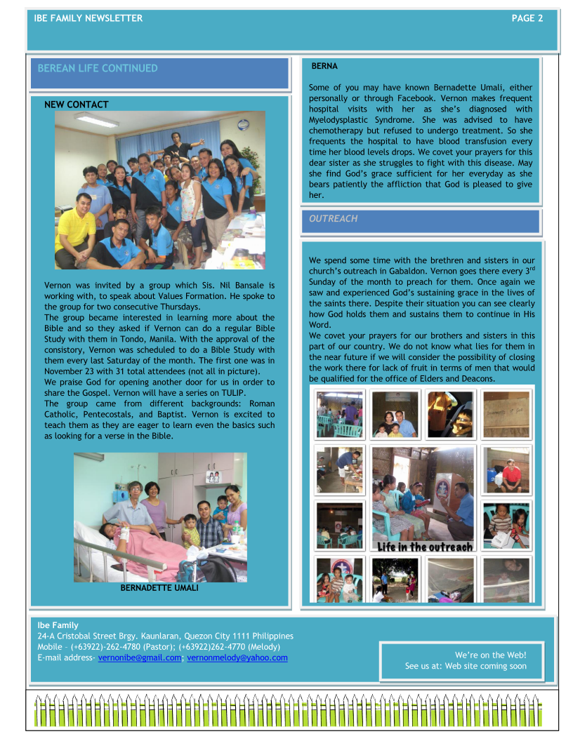 Ibe Family Newsletter-Sept-Dec 2013 Page 2