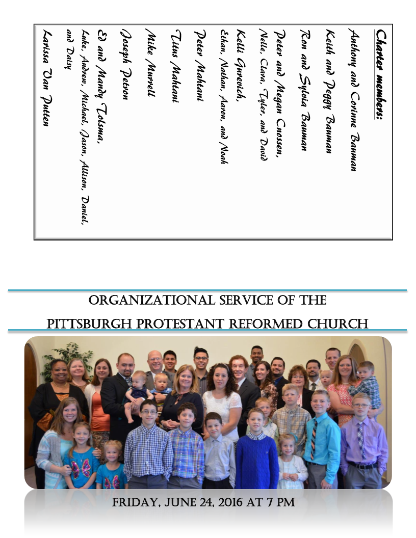 Pitts Organization program Page 1