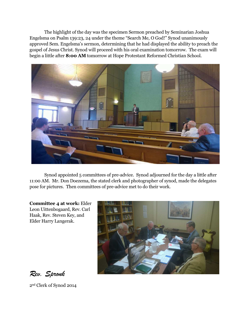 Day 1 Report of Synod 2014 Page 2