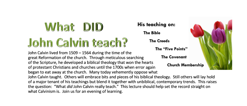 What Did John Calvin Teach Page 1