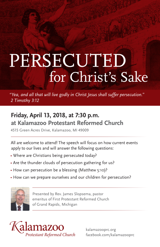 KPRC 2018 Lecture Persecuted for Christs Sake Page 1