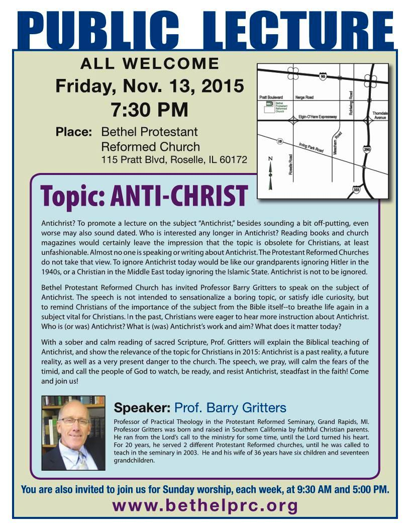 Anti Christ FLYER Bethel PRC 2015