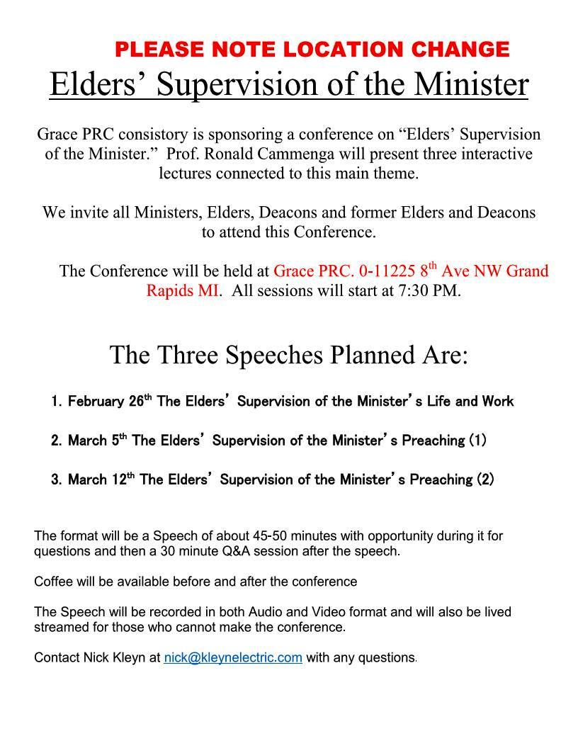 Elders Conference Flyer Grace PRC Feb 2015 Page 1