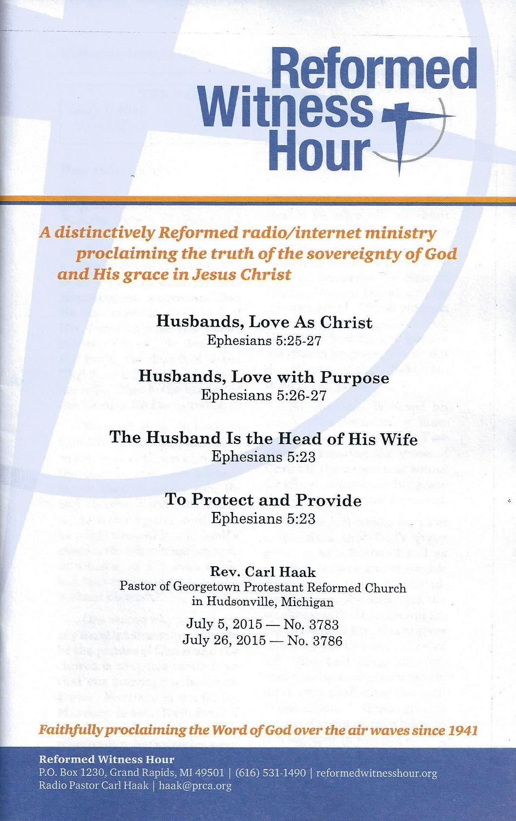 RWH July 2015 Booklet