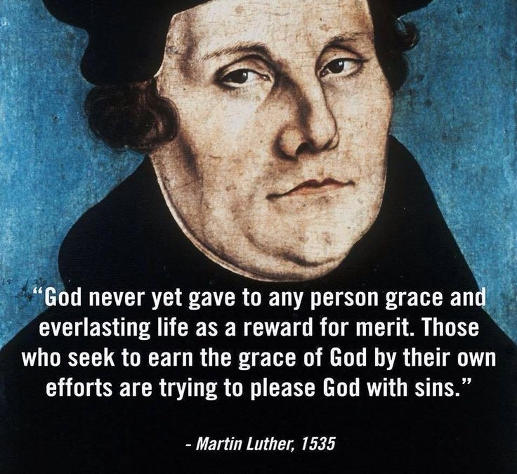 Luther grace merit