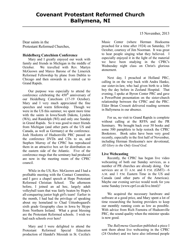 CPRCNINewsletter-Nov2013 Page 1