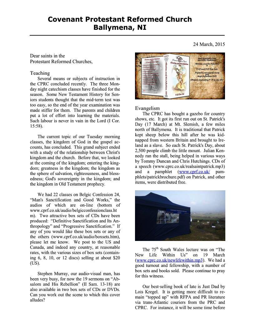 CPRCNI Newsletter March2015 Page 1