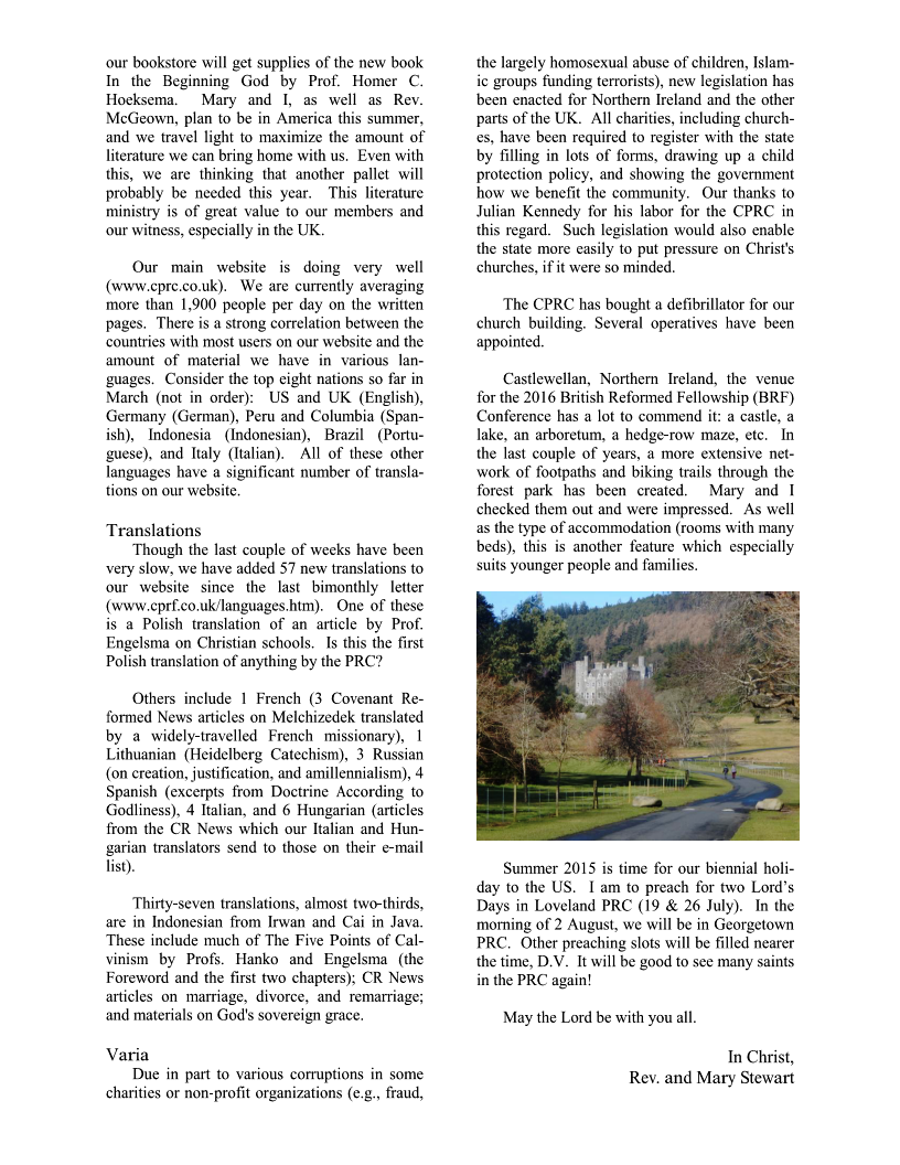 CPRCNI Newsletter March2015 Page 2
