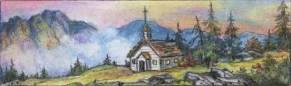 Picture is a water color by Jean Ezinga of Loveland, Colorado