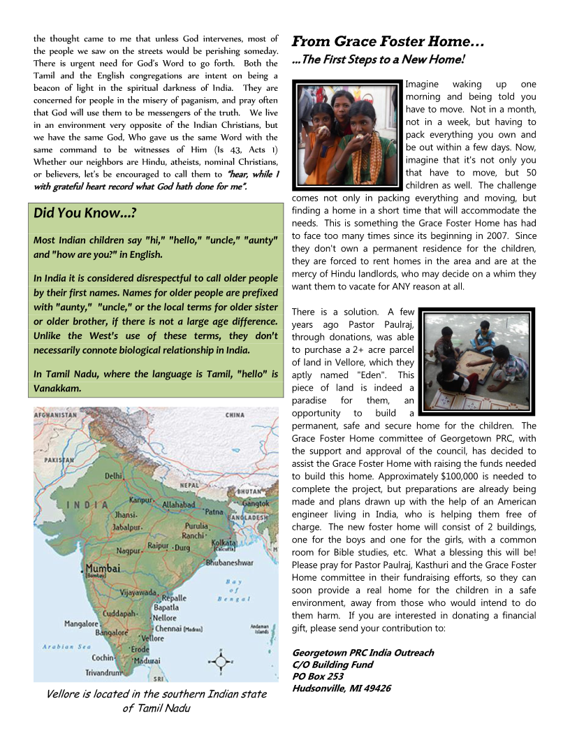 India Newsletter - April 2014 Page 2